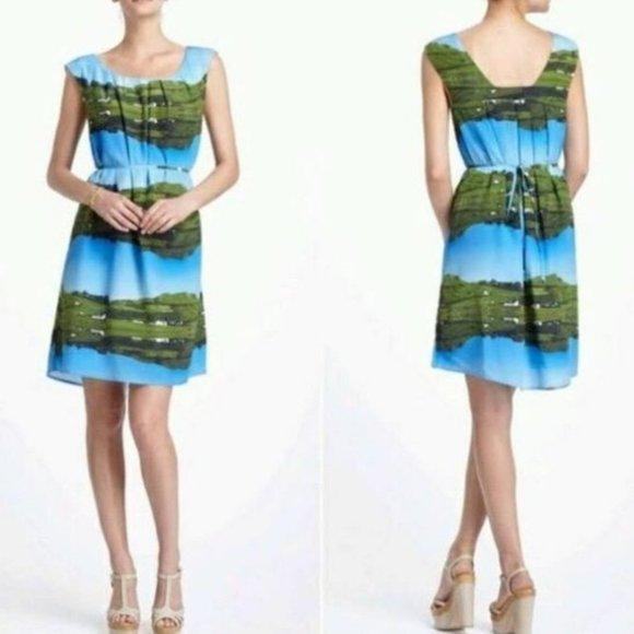 Anthropologie Meadow Rue Silk landscape Dress